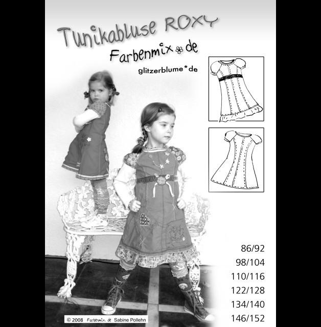 Roxy Farbenmix-Schnittmuster Tunika Bluse