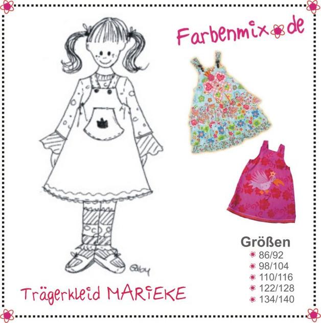 Schnittmuster Marieke Farbenmix Traegerkleid Kleid