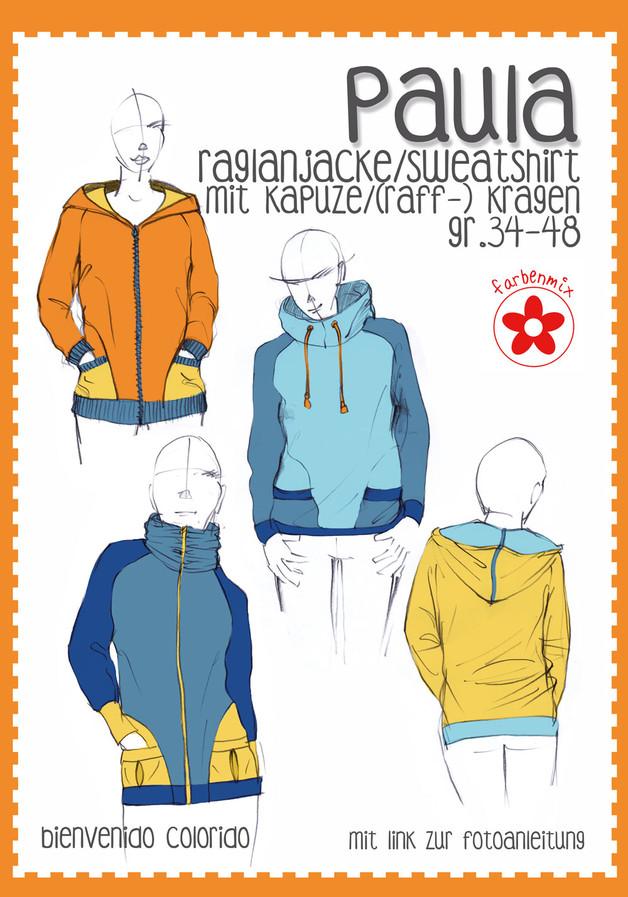 Raglanjacke Sweatshirt Paula farbenmix