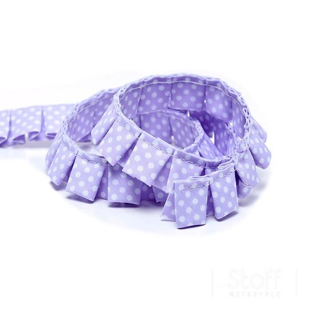 Faltenband Punkte flieder lila weiss