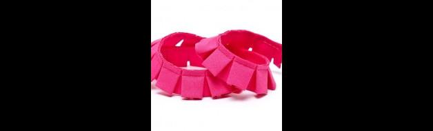 Faltenband pink