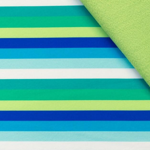 Softshell Ringel gruen blau tuerkis weiss