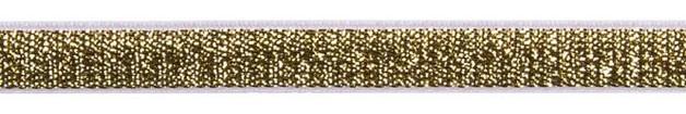 Band Glitzer elastisch gold 10mm