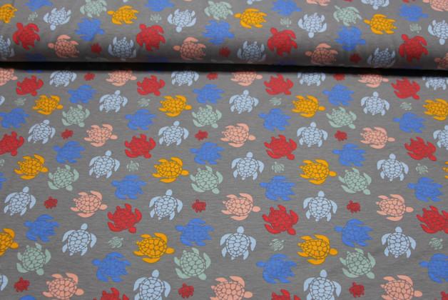 Jersey Ilja Fabrics Tropical Schildkroeten