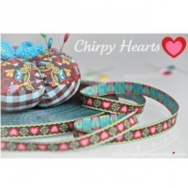 Farbenmix Webband Chirpy hearts
