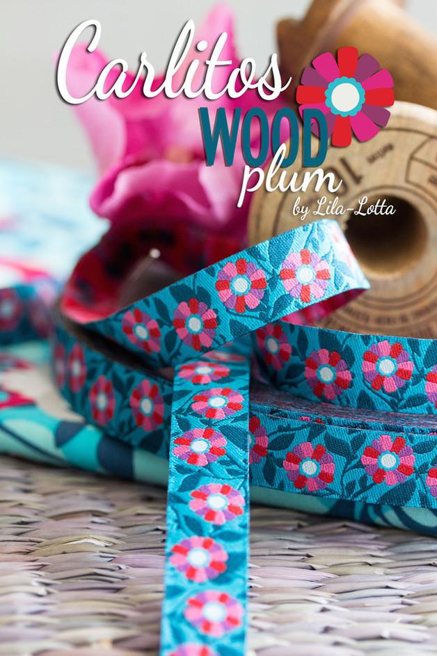Carlitos Wood plum Farbenmix Webband