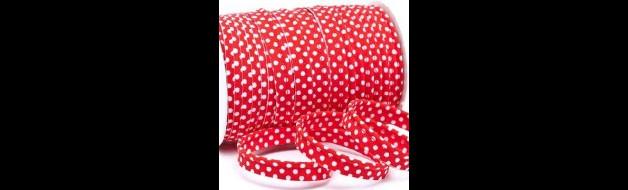 Paspelband mit Punkten rot