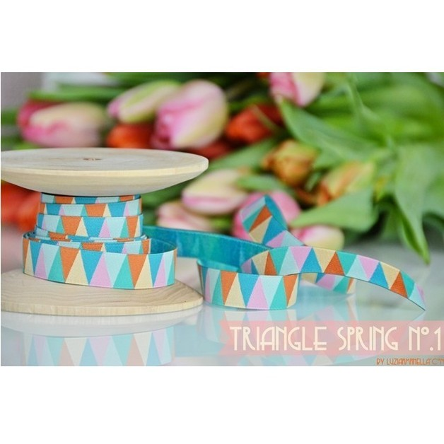 Triangle Spring no.1 Webband Farbenmix