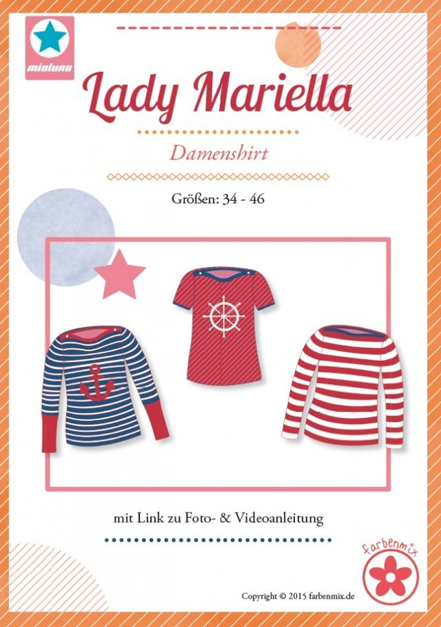 Lady Mariella Shirt Damen Mialuna Farbenmix