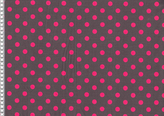 Feincord Josh dunkelgrau pinkfarbene Punkte