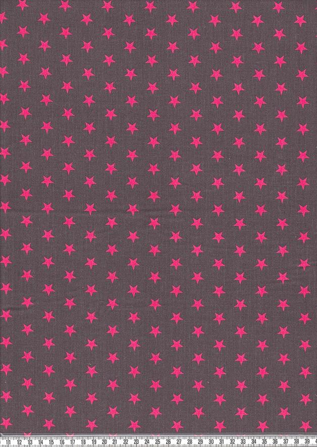 Feincord Justin dunkelgrau pinkfarbene Sterne