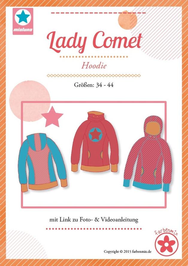 Schnittmuster Lady Comet Hoodie Mialuna