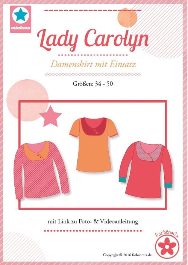 Schnittmuster Lady Carolyn Mialuna Damenshirt