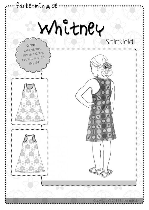 Schnittmuster Whitney Shirtkleid Farbenmix