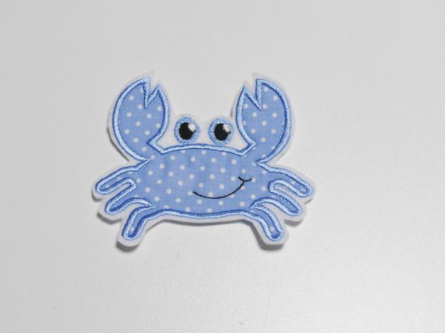 Aufnaeher Applikation Krebs Krabbe