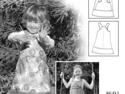 Schnittmuster Celina Farbenmix Traegerkleid Kleid