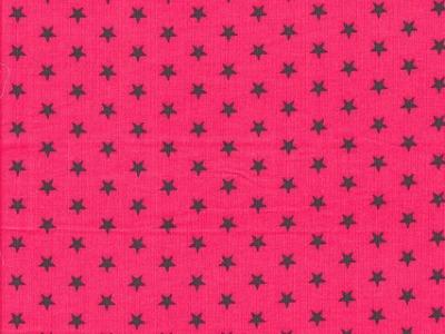 Feincord Justin pink dunkelgraue Sterne
