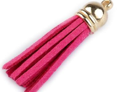 Anhaenger Taschenbaumler Fransen pink
