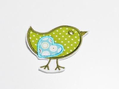 Aufnaeher Applikation Voegelchen Vogel