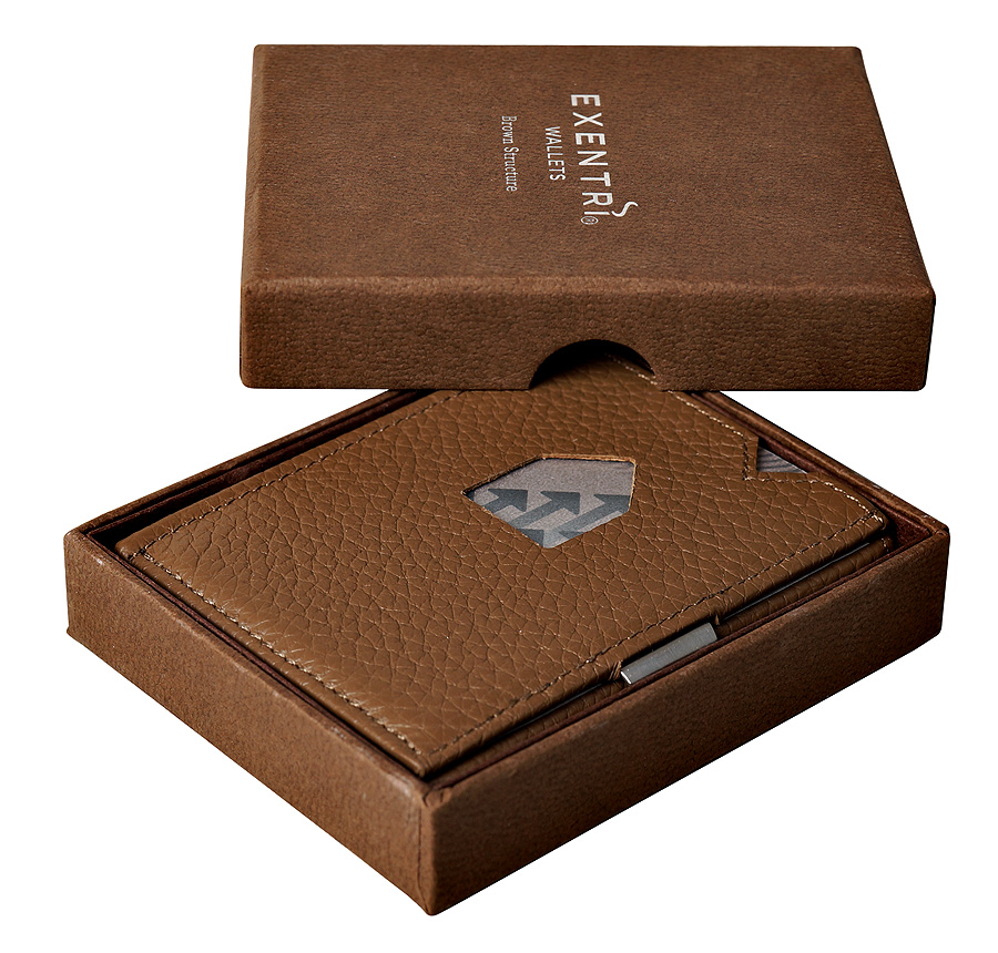 Exentri Wallet Brown Structure Ohne RFID - 2