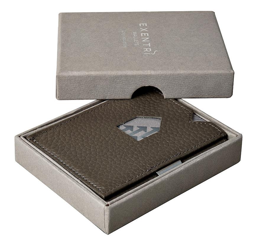 Exentri Wallet - Grey Structure - Ohne RFID Schutz