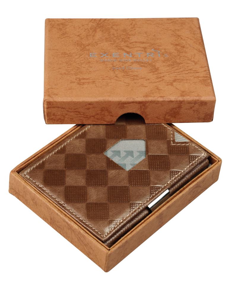 Exentri Wallet - Sand Chess - Ohne RFID Schutz
