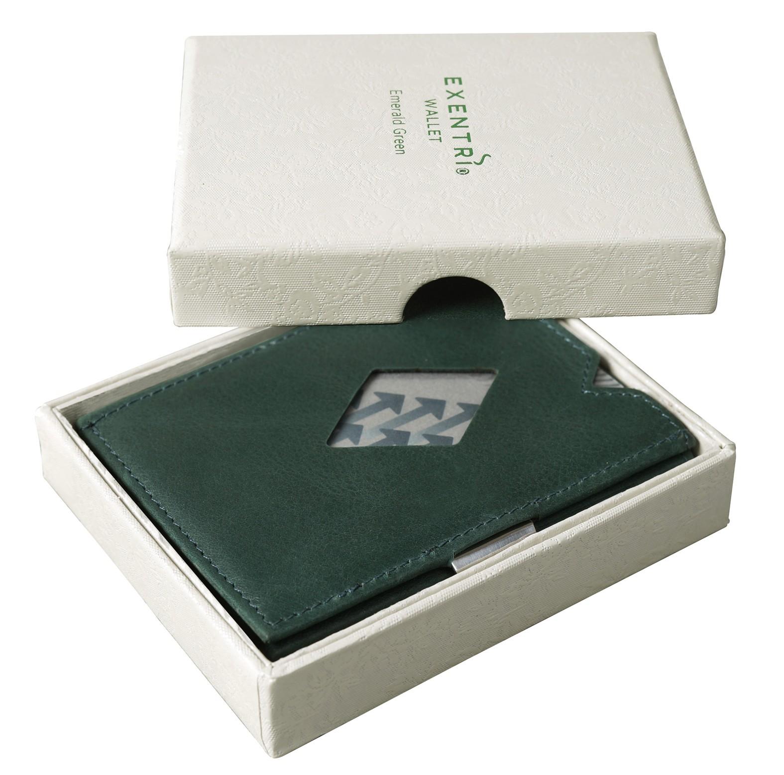 Exentri Wallet - Emerald Green - Ohne RFID Schutz