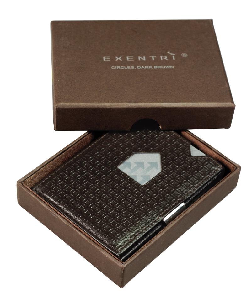 Exentri Wallet - Circles Dark Brown - Ohne RFID Schutz - 4