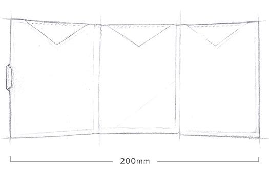 Exentri Wallet - Grey Structure - Ohne RFID Schutz - 6