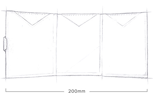 Exentri Wallet Grey Structure Ohne RFID - 6