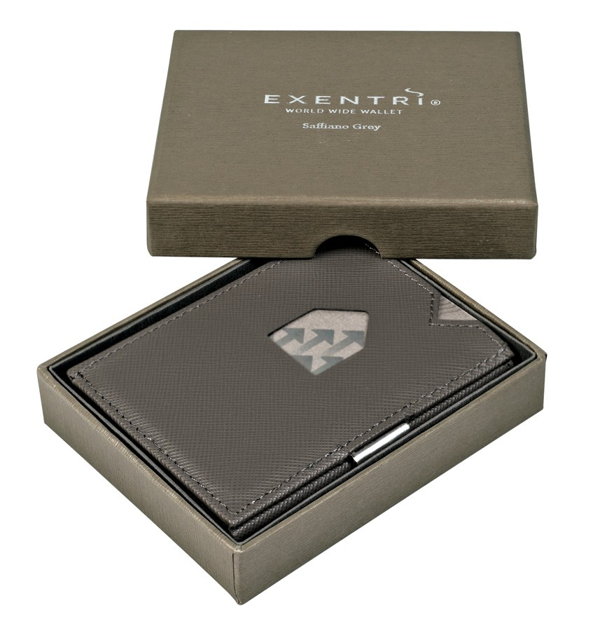 Exentri Wallet - Saffiano Grey - Ohne RFID Schutz - 2