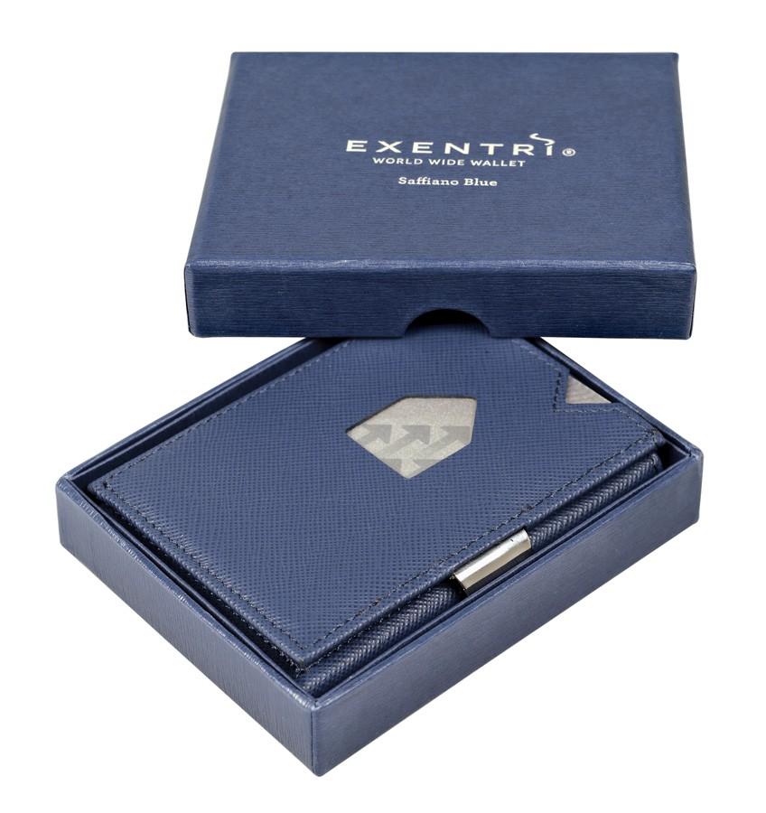 Exentri Wallet - Saffiano Blue - Ohne RFID Schutz