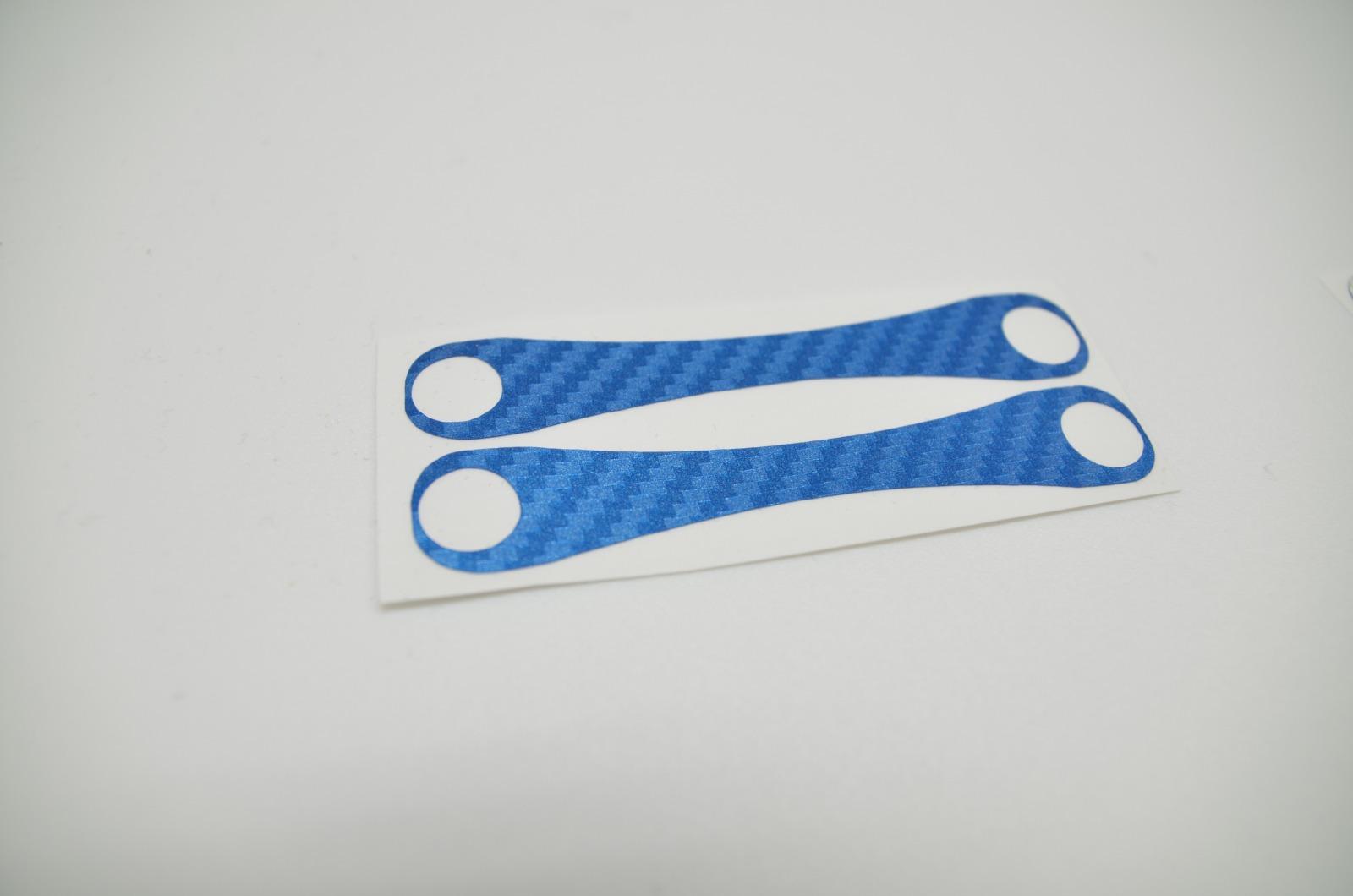 Aufkleber Carbon Struktur Blau 3