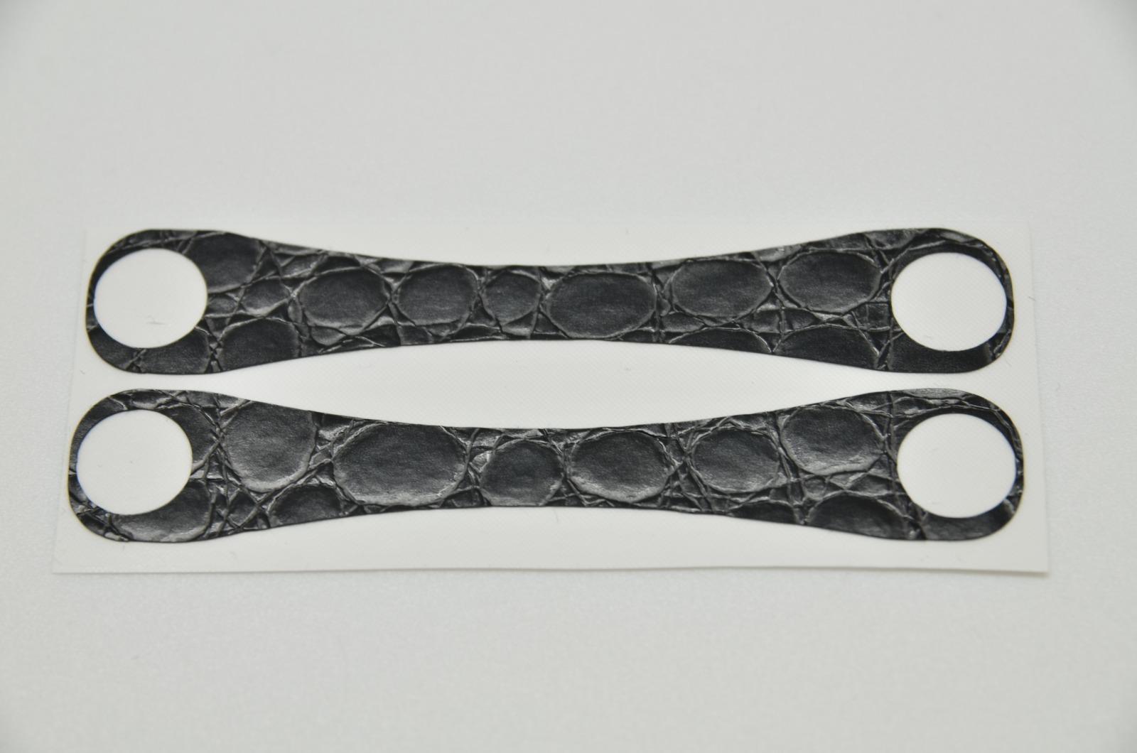 Aufkleber Schlangenleder Struktur Schwarz - 4