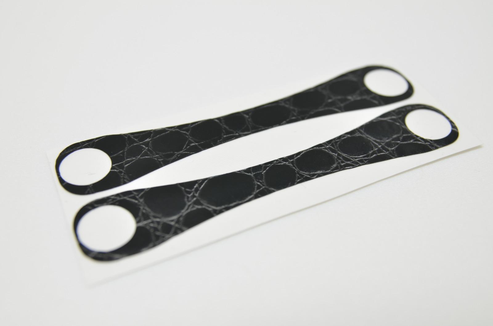 Aufkleber Schlangenleder Struktur Schwarz - 3