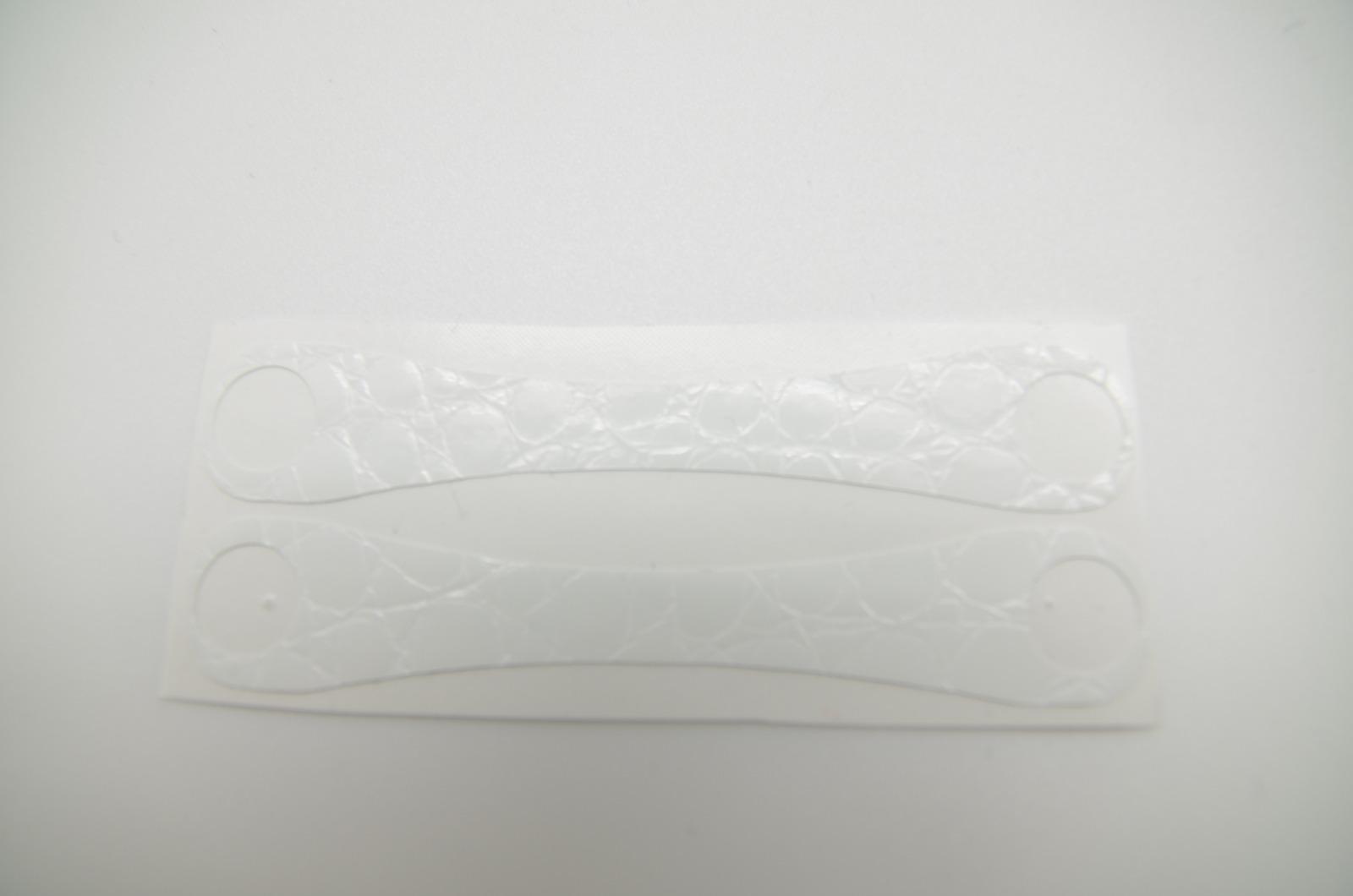 Aufkleber Schlangenleder Struktur Weiß 4