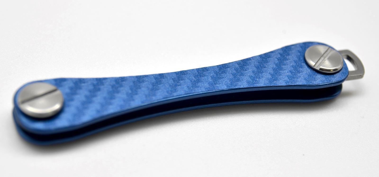 Aufkleber Carbon Struktur Blau 2