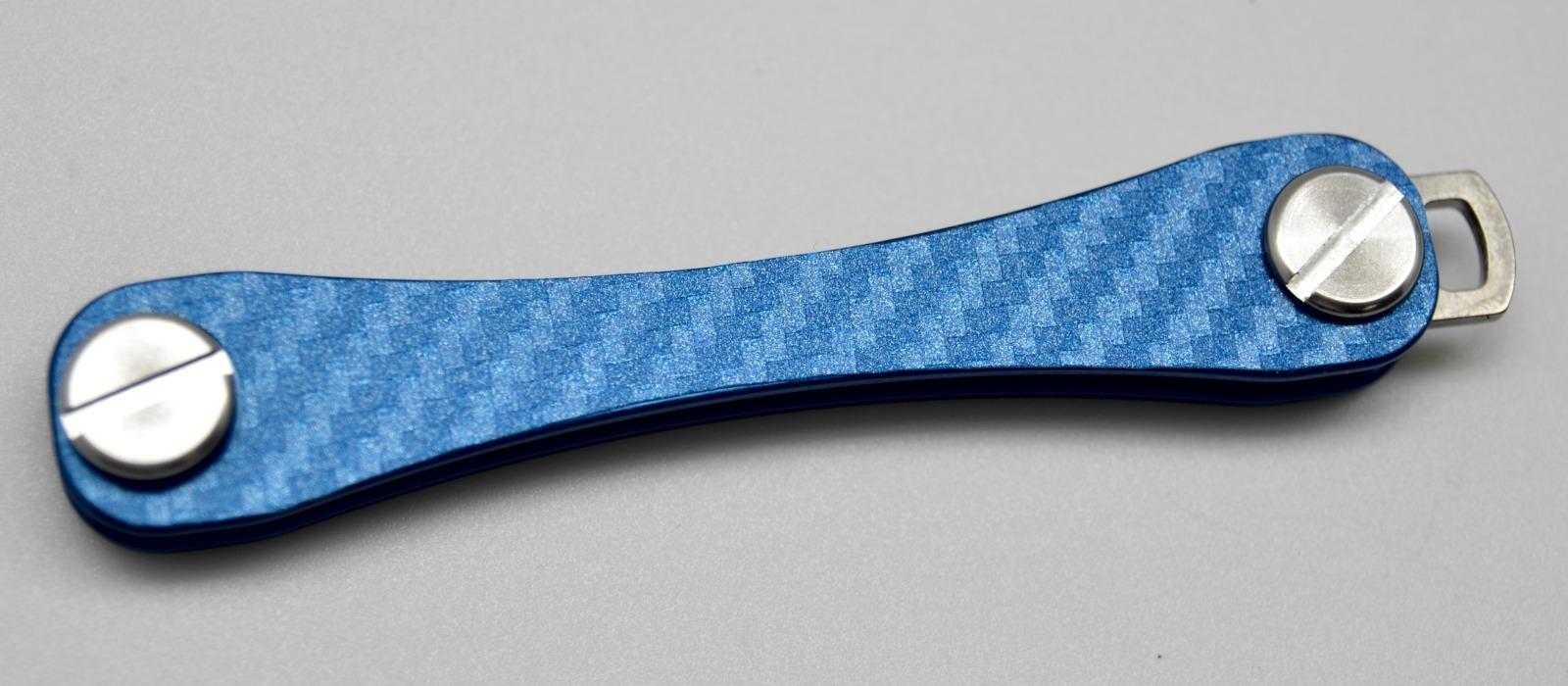 Aufkleber Carbon Struktur Blau