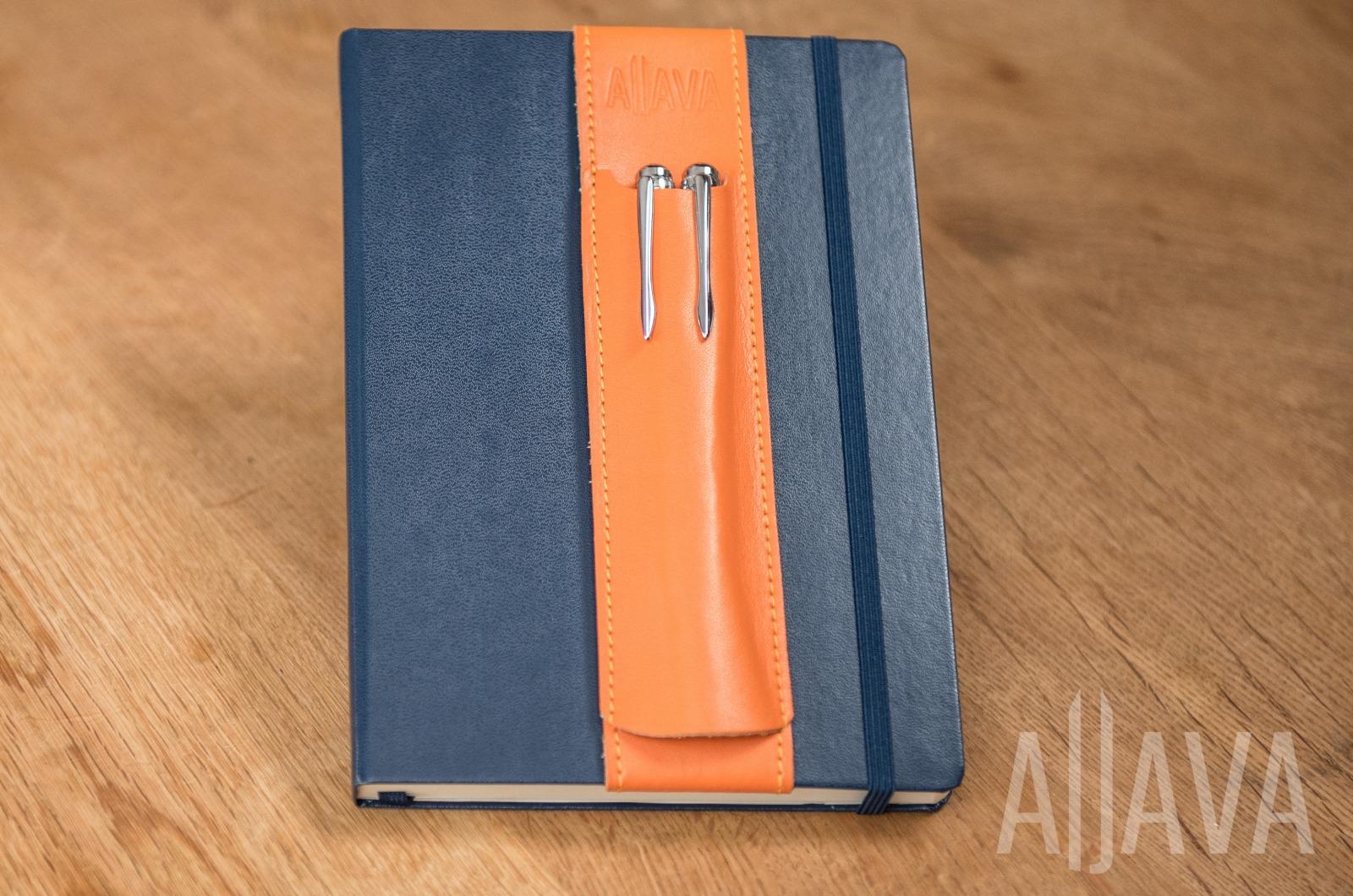 ALjAVA Louis Rindspaltleder: Orange Naht: Orange