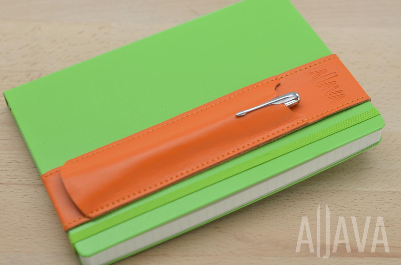 ALjAVA Louis Rindspaltleder: Orange, Naht: Orange - 4