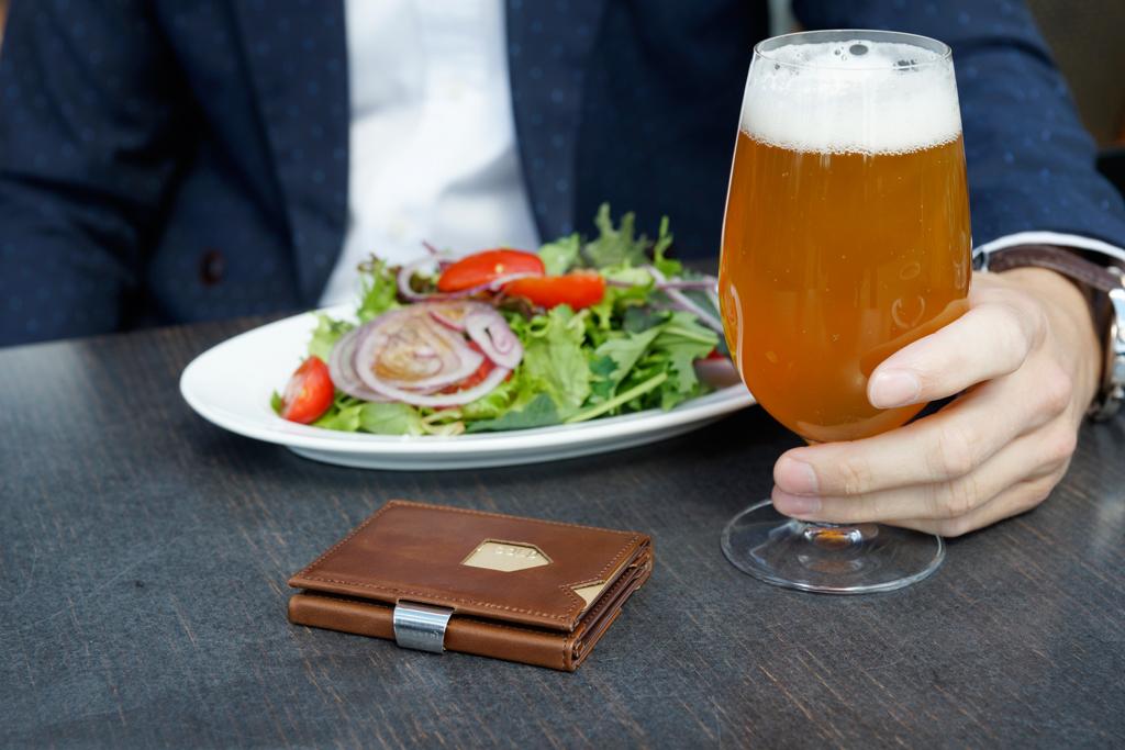 Exentri Wallet COGNAC mit RFID-Schutz 6