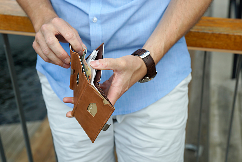 Exentri Wallet COGNAC mit RFID-Schutz 7