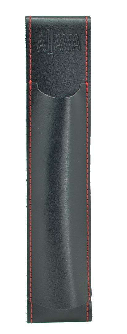 Aljava A5-Stiftehalter in Rindspaltleder Farbe Schwarz mit schwarzer Naht