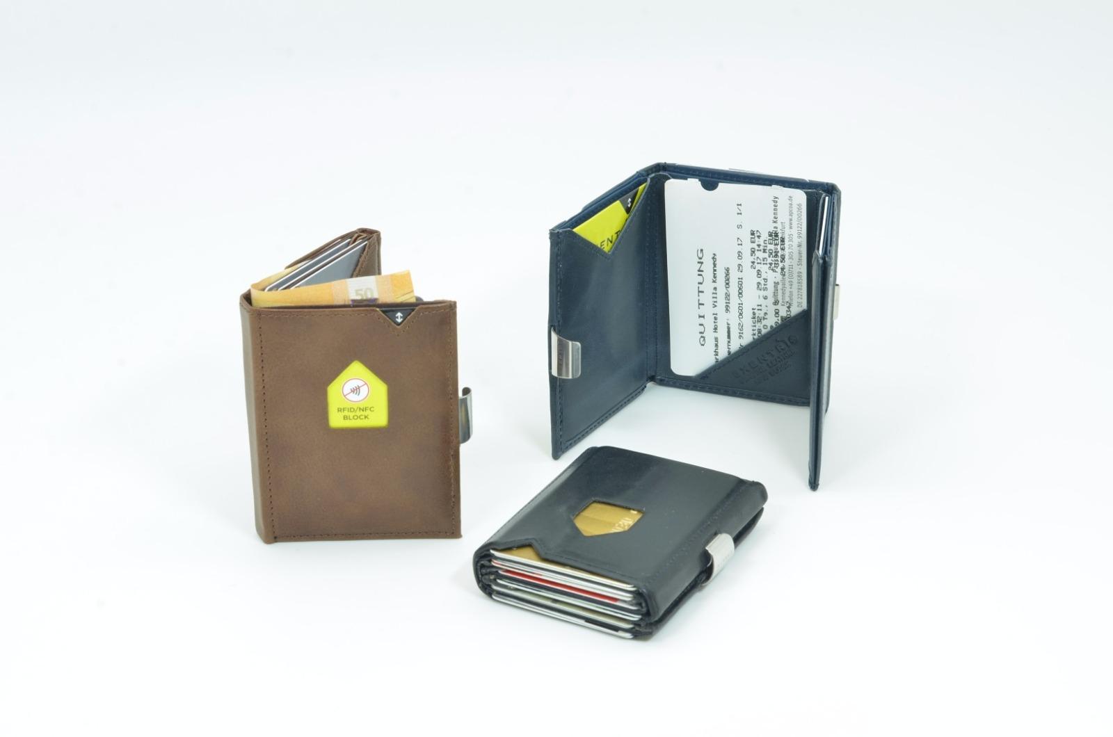Exentri Wallet COGNAC mit RFID-Schutz 8