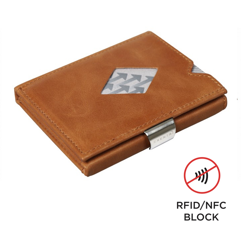 Exentri Wallet COGNAC mit RFID-Schutz - 1