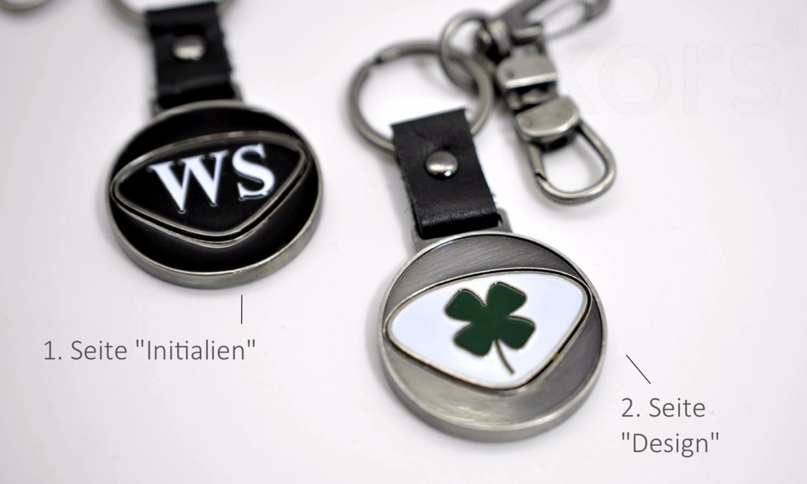 Personalisierbarer Schlüsselanhänger Widder Initialien AA bis