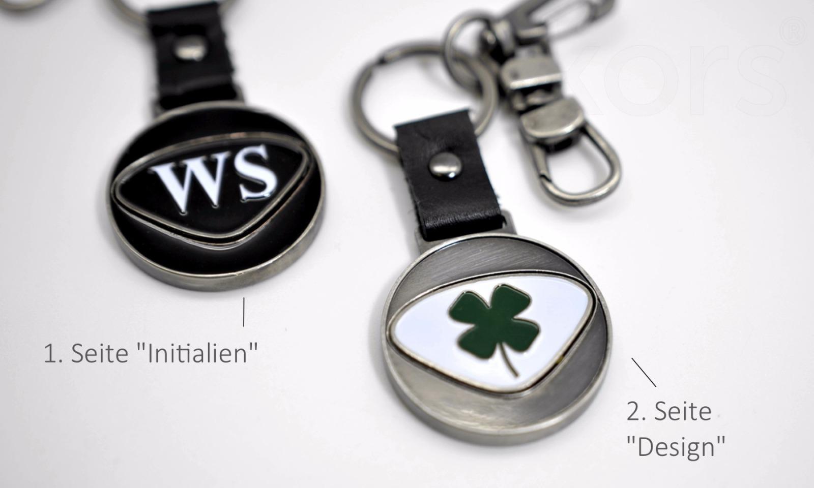 Personalisierbarer Schlüsselanhänger Totenkopf Initialien AA bis ZZ - 4