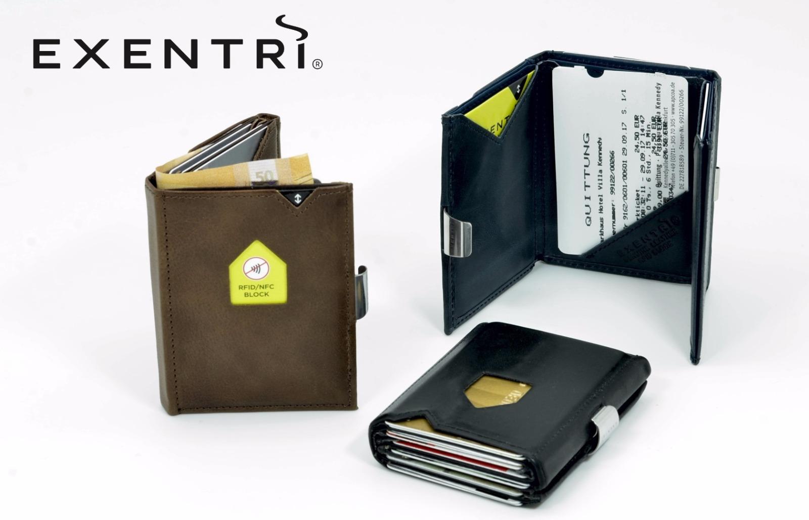 Exentri Wallet NUBUCK BLACK mit RFID-Schutz - 5
