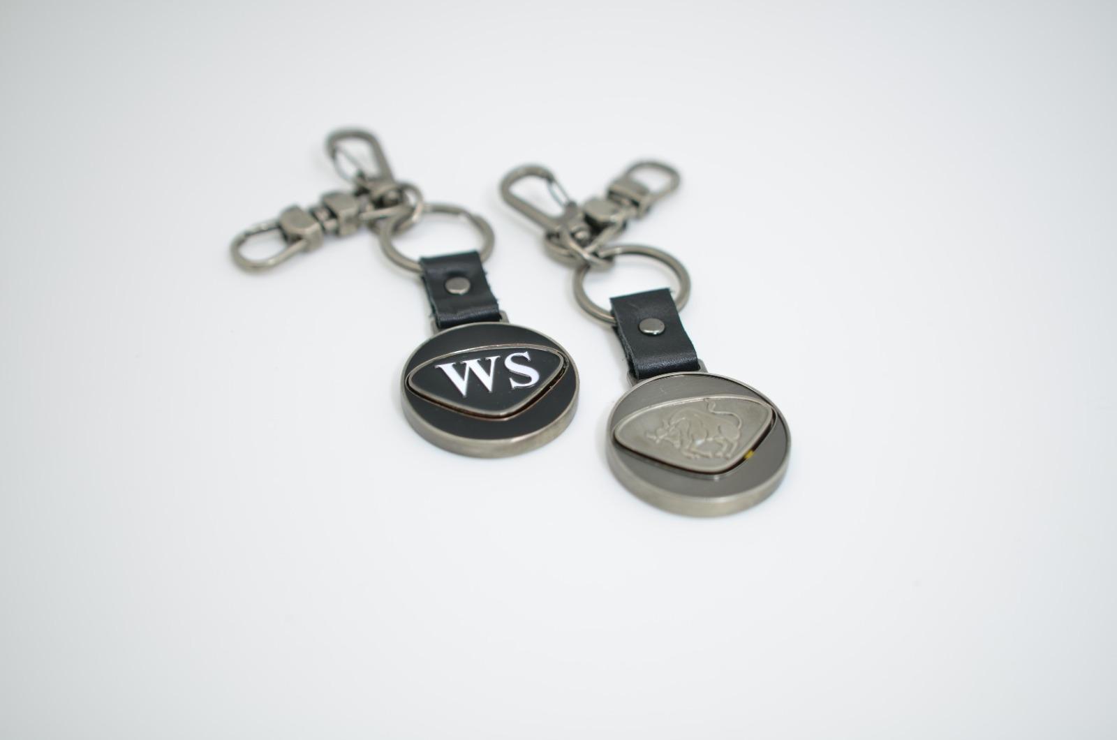 Personalisierbarer Schlüsselanhänger Totenkopf Initialien AA bis - 3