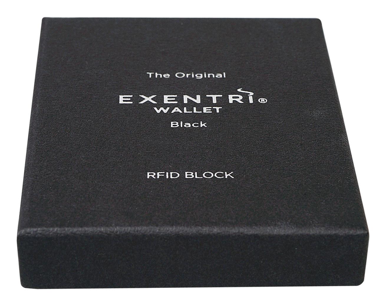Exentri Wallet BLACK mit RFID-Schutz 4